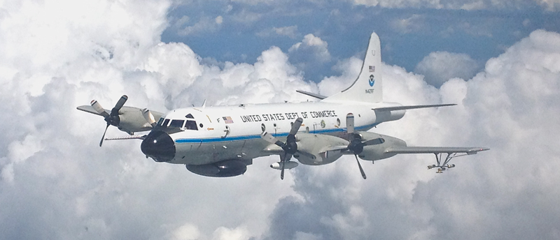 "NOAA WP-3D Orion N42RF ""Hurricane Hunter""; Photo Credit: NOAA/Lynne Gratz"